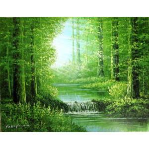 油彩画 洋画 肉筆絵画 ( 油絵額縁付きで納品対応可 ) F3号サイズ 「陽光」 横山 守|touo