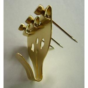 額縁 美術金具 3本針フック 金色 安全荷重5KG|touo