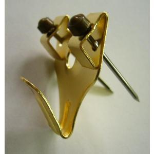 額縁 美術金具 2本針フック 金色 安全荷重3KG|touo