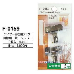 額縁 美術金具 額縁材料 スライドケース入金具セット 5パック ワイヤー自在用フック(回縁用) F-0159|touo