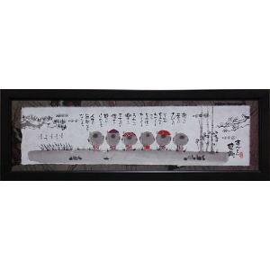 絵画 インテリア アートポスター 壁掛け (額縁 アートフレーム付き) 御木幽石 福らんま 「すべてに感謝」|touo