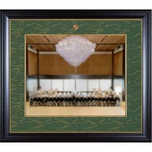 額縁 叙勲額縁 木製フレーム 写真額縁 (半切サイズ) 35タイプ 慶賀|touo