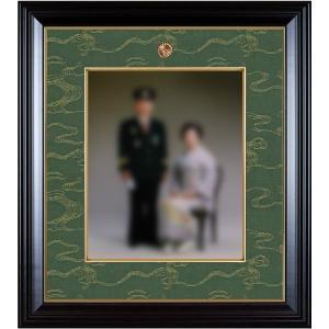 額縁 叙勲額縁 木製フレーム 写真額縁 (四ッ切サイズ) 35タイプ 慶賀|touo