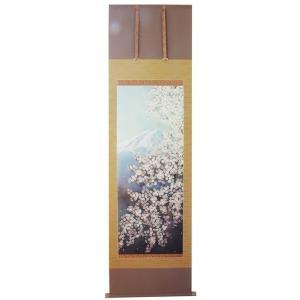 掛け軸 掛軸 純国産掛け軸 床の間 季節画 「 春麗 」 上村久志作 尺五 桐箱付|touo