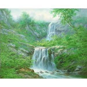 絵画 油絵 肉筆絵画 壁掛け ( 油絵額縁 アートフレーム付きで納品対応可 ) F20号サイズ 「高級日本風景11」 touo