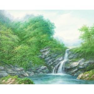 絵画 油絵 肉筆絵画 壁掛け ( 油絵額縁 アートフレーム付きで納品対応可 ) F20号サイズ 「高級日本風景12」 touo