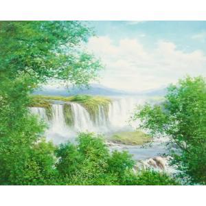 絵画 油絵 肉筆絵画 壁掛け ( 油絵額縁 アートフレーム付きで納品対応可 ) F20号サイズ 「高級日本風景13」 touo