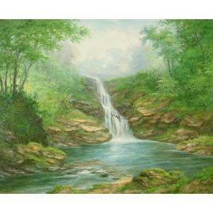 絵画 油絵 肉筆絵画 壁掛け ( 油絵額縁 アートフレーム付きで納品対応可 ) F20号サイズ 「高級日本風景14」 touo