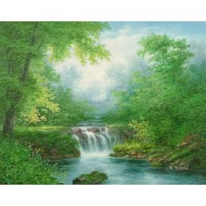 絵画 油絵 肉筆絵画 壁掛け ( 油絵額縁 アートフレーム付きで納品対応可 ) F20号サイズ 「高級日本風景16」 touo