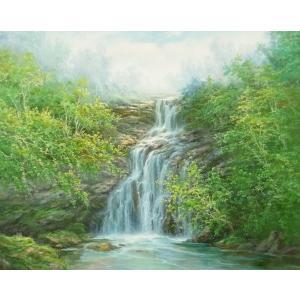 絵画 油絵 肉筆絵画 壁掛け ( 油絵額縁 アートフレーム付きで納品対応可 ) F20号サイズ 「高級日本風景17」 touo