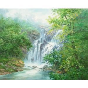 絵画 油絵 肉筆絵画 壁掛け ( 油絵額縁 アートフレーム付きで納品対応可 ) F20号サイズ 「高級日本風景18」 touo