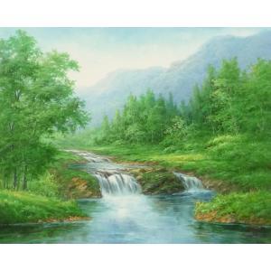 絵画 油絵 肉筆絵画 壁掛け ( 油絵額縁 アートフレーム付きで納品対応可 ) F20号サイズ 「高級日本風景19」 touo