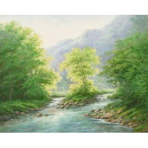 絵画 油絵 肉筆絵画 壁掛け ( 油絵額縁 アートフレーム付きで納品対応可 ) F20号サイズ 「高級日本風景20」 touo