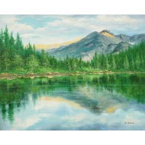 絵画 油絵 肉筆絵画 壁掛け ( 油絵額縁 アートフレーム付きで納品対応可 ) F20号サイズ 「高級日本風景21」 touo