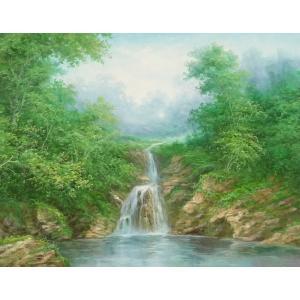 絵画 油絵 肉筆絵画 壁掛け ( 油絵額縁 アートフレーム付きで納品対応可 ) F20号サイズ 「高級日本風景22」 touo