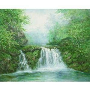 絵画 油絵 肉筆絵画 壁掛け ( 油絵額縁 アートフレーム付きで納品対応可 ) F20号サイズ 「高級日本風景24」 touo