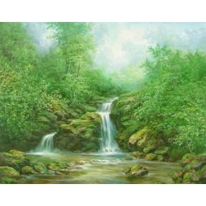 絵画 油絵 肉筆絵画 壁掛け ( 油絵額縁 アートフレーム付きで納品対応可 ) F20号サイズ 「高級日本風景6」 touo