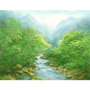 絵画 油絵 肉筆絵画 壁掛け ( 油絵額縁 アートフレーム付きで納品対応可 ) F20号サイズ 「高級日本風景7」 touo