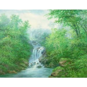 絵画 油絵 肉筆絵画 壁掛け ( 油絵額縁 アートフレーム付きで納品対応可 ) F20号サイズ 「高級日本風景9」 touo
