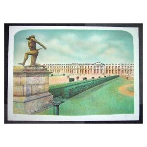 ヨーロッパ版画 リトグラフ ラフエルスキー 54X75cm|touo