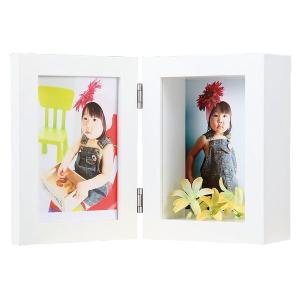 額縁 フォトフレーム 写真立て 木製フレーム 3D サイズ4X6判|touo