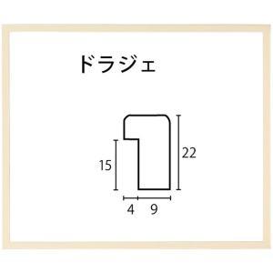 額縁 アートフレーム 色紙額縁 木製 ドラジェ 274X244mm touo