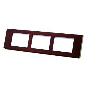 額縁 フォトフレーム 写真立て 木製フレーム 大人のフォトフレーム RB30035H サイズ3.5X5判 横三連|touo
