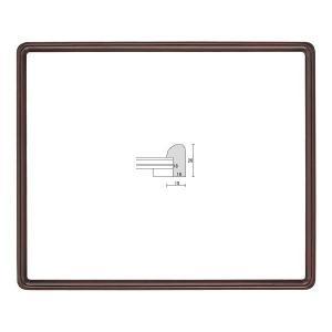 額縁 OA額縁 ポスター額縁 木製フレーム D717 A4 touo