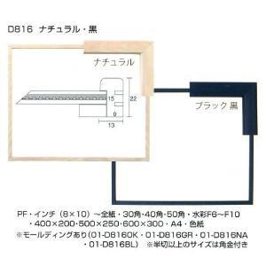 額縁 横長の額縁 木製フレーム D816 サイズ400X200mm|touo
