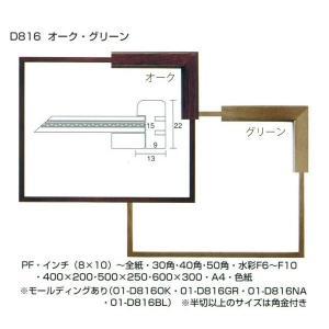 額縁 横長の額縁 木製フレーム D816 サイズ600X300mm|touo