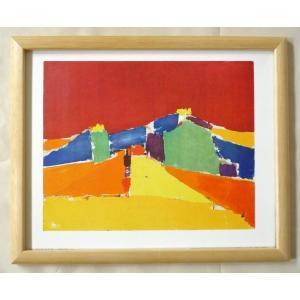 絵画 インテリア アートポスター 壁掛け ヨーロッパ製 (額縁 アートフレーム付き) サイズ八ッ切 STAEL 「AGRIGENTE」|touo