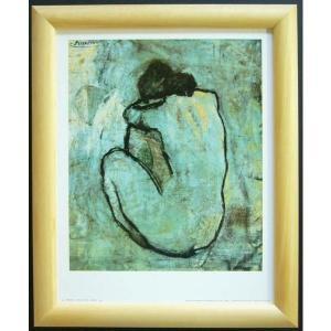 絵画 インテリア アートポスター 壁掛け ヨーロッパ製 (額縁 アートフレーム付き) サイズ八ッ切 ピカソ「NUDE」|touo