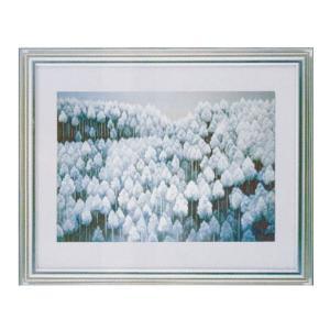 絵画 壁掛け 額縁 アートフレーム付き 東山魁夷 「北山初雪」 F6号特寸 世界の名画シリーズ プリハード|touo