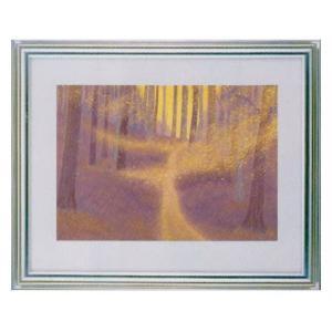 絵画 壁掛け 額縁 アートフレーム付き 東山魁夷 「木枯らし舞う」 F6号特寸 世界の名画シリーズ プリハード|touo