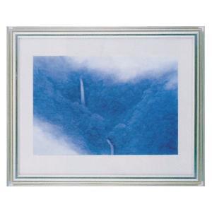 絵画 壁掛け 額縁 アートフレーム付き 東山魁夷 「山霊」 F6号特寸 世界の名画シリーズ プリハード|touo