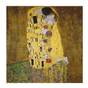 絵画 壁掛け 額縁 アートフレーム付き グスタフ・クリムト 「接吻」 S8号 世界の名画シリーズ プリハード|touo