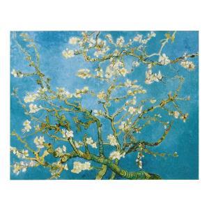 絵画 壁掛け 額縁 アートフレーム付き ヴィンセント・ヴァン・ゴッホ 「花咲くアーモンドの枝」 P8号 世界の名画シリーズ プリハード|touo