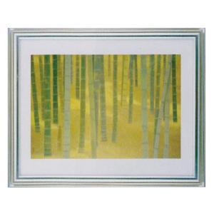 絵画 壁掛け 額縁 アートフレーム付き 東山魁夷 「夏に入る」 サイズF10号特寸 世界の名画シリーズ プリハード|touo