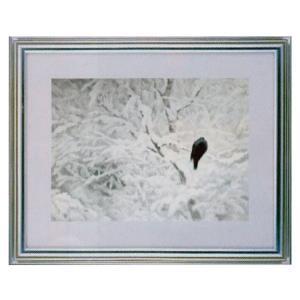 絵画 壁掛け 額縁 アートフレーム付き 東山魁夷 「白い朝」 サイズF10号特寸 世界の名画シリーズ プリハード|touo