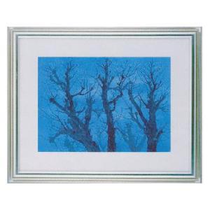 絵画 壁掛け 額縁 アートフレーム付き 東山魁夷 「樹」 F6号特寸 世界の名画シリーズ プリハード|touo