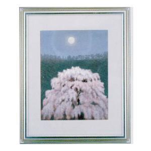 絵画 壁掛け 額縁 アートフレーム付き 東山魁夷 「花明り」 F6号特寸 世界の名画シリーズ プリハード|touo