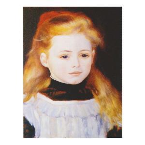 絵画 壁掛け 額縁 アートフレーム付き ピエール・オーギュスト・ルノワール 「白いエプロンの少女」 F3号 世界の名画シリーズ プリハード|touo