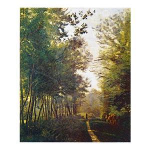 絵画 壁掛け 額縁 アートフレーム付き ジャン・バティスト・カミーユ・コロー 「ヴィル・ダヴレー」 F3号 世界の名画シリーズ プリハード|touo
