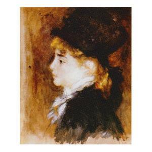 絵画 壁掛け 額縁 アートフレーム付き ピエール・オーギュスト・ルノワール 「モデルの肖像」 F3号 世界の名画シリーズ プリハード|touo