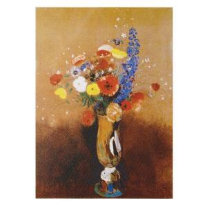 絵画 壁掛け 額縁 アートフレーム付き オディロン・ルドン 「花束」 F3号 世界の名画シリーズ プリハード|touo