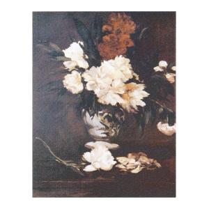 絵画 壁掛け 額縁 アートフレーム付き エドゥアール・マネ 「台の上のしゃくやくの花」 F3号 世界の名画シリーズ プリハード|touo
