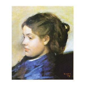 絵画 壁掛け 額縁 アートフレーム付き エドガー・ドガ 「ドビニ嬢」 F3号 世界の名画シリーズ プリハード|touo