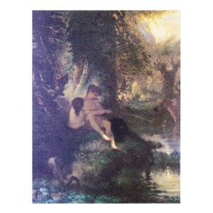 絵画 壁掛け 額縁 アートフレーム付き ジャン・フランソワ・ミレー 「ダフニスとクロエ」 F3号 世界の名画シリーズ プリハード|touo