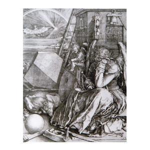 絵画 壁掛け 額縁 アートフレーム付き アルブレヒト・デューラー 「メランコリア」 半切 世界の名画シリーズ プリハード|touo