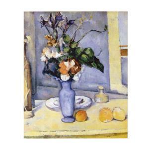 絵画 壁掛け 額縁 アートフレーム付き ポール・セザンヌ 「青い花瓶」 F3号 世界の名画シリーズ プリハード|touo